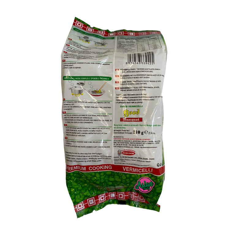 Acecook Good Dried Vermicelli 210g Back