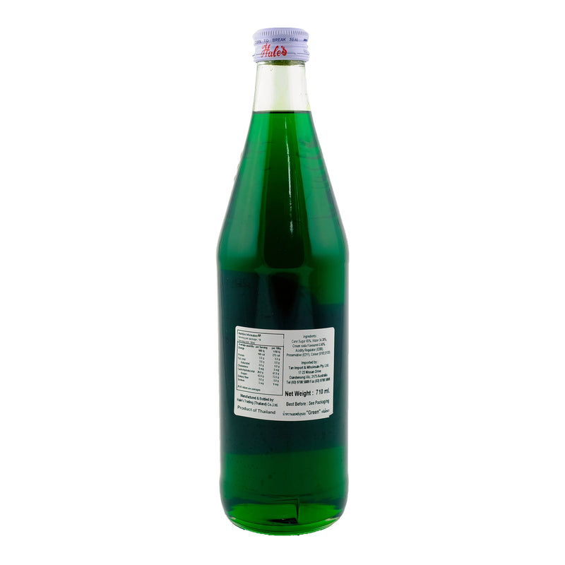Hales Green Syrup 710ml Back