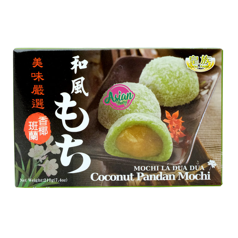 Royal Family Coconut Pandan Mochi 210g Front