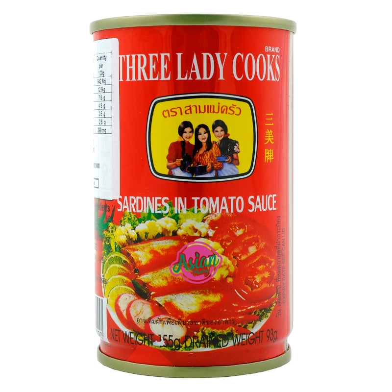 3 Lady Cooks Sardines in Tomato Sauce 155g Front