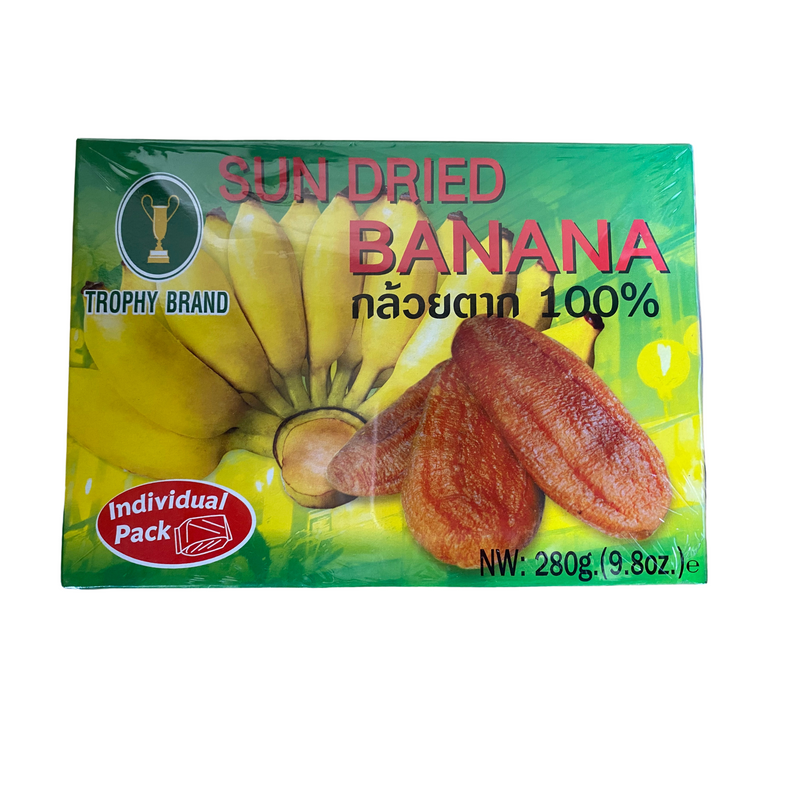 Trophy Brand Sun Dried Banana 280g - Asian PantryTrophy Brand Asian Groceries