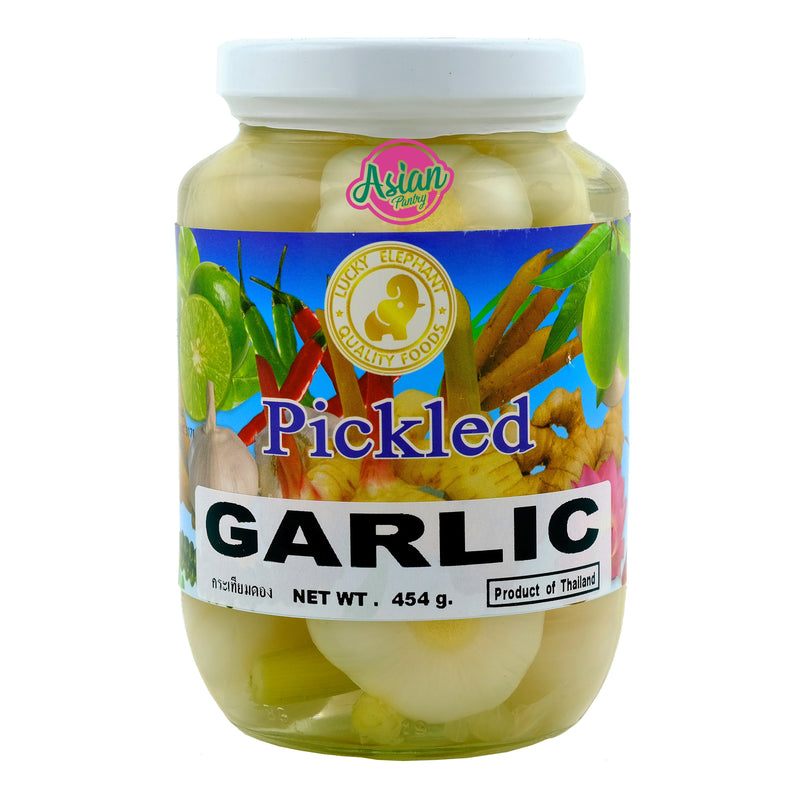 Lucky Elephant Pickled Garlic 454g Front