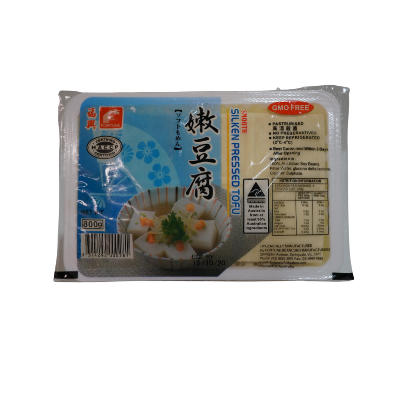 [FRESH] Fortune Silken Press Tofu 800g Front