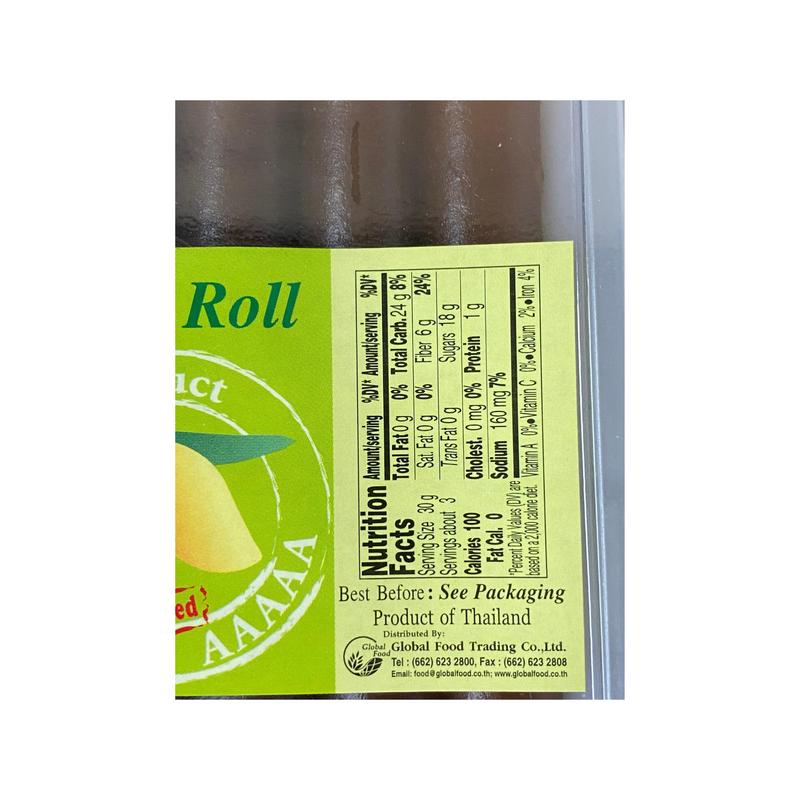 Global Mango Roll 120g Nutritional Information & Ingredients