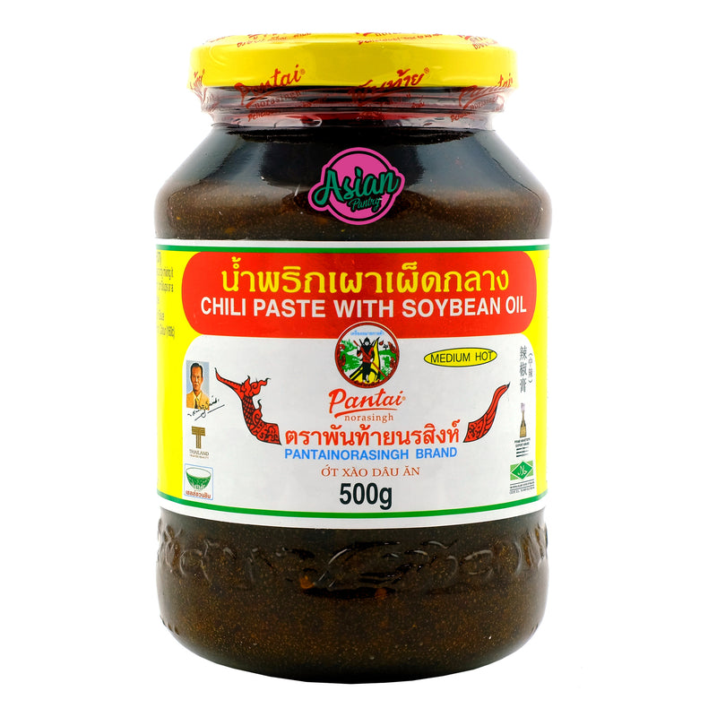 Pantai Chili Paste With Soya Bean Oil 500g Front