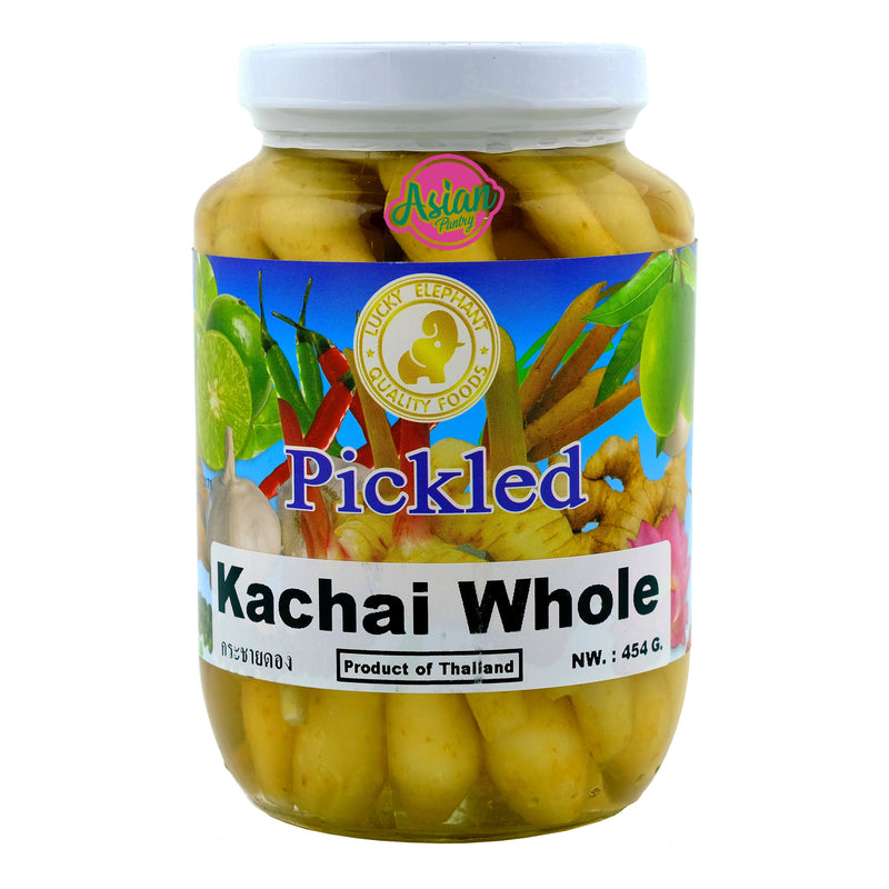 Lucky Elephant Pickled Kachai Whole 454g Front