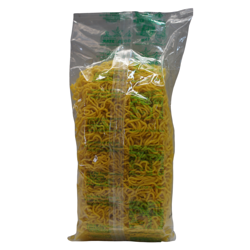 [FRESH] Gold Star Chow Mien Noodles 1kg Back