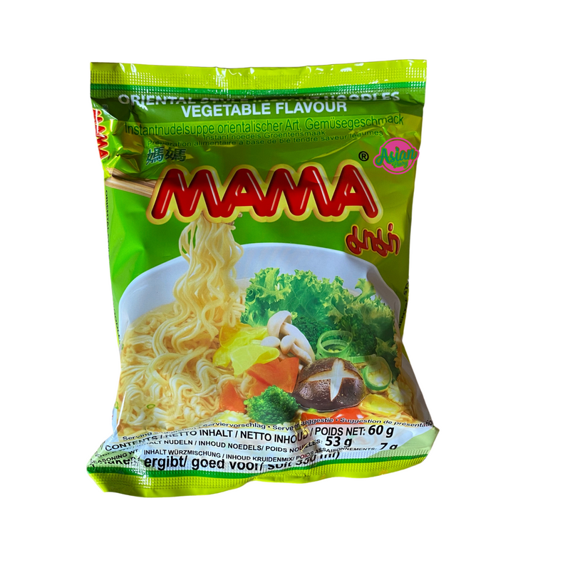 Mama Vegetable Flavour Instant Noodle 60g - Asian PantryMama Asian Groceries
