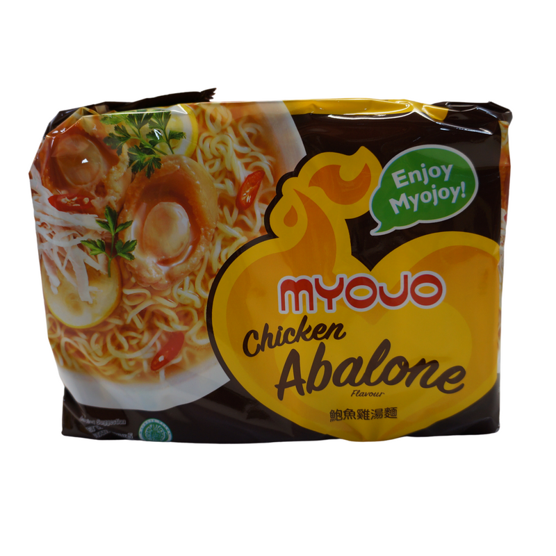 Myojo Chicken Abalone Noodles 5 pack 395g Front