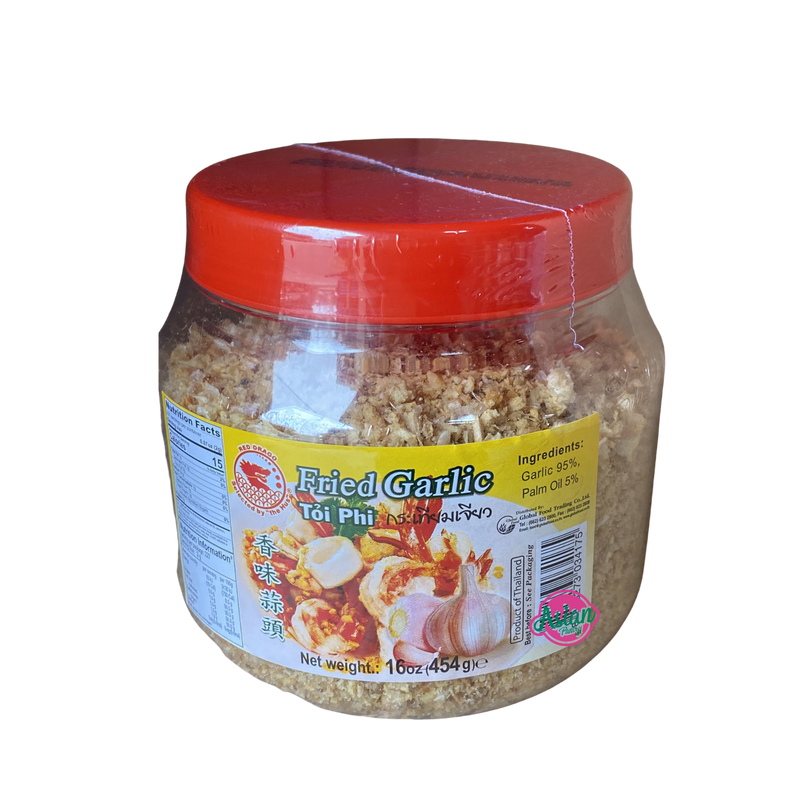 Red Dragon Fried Garlic 454g Front