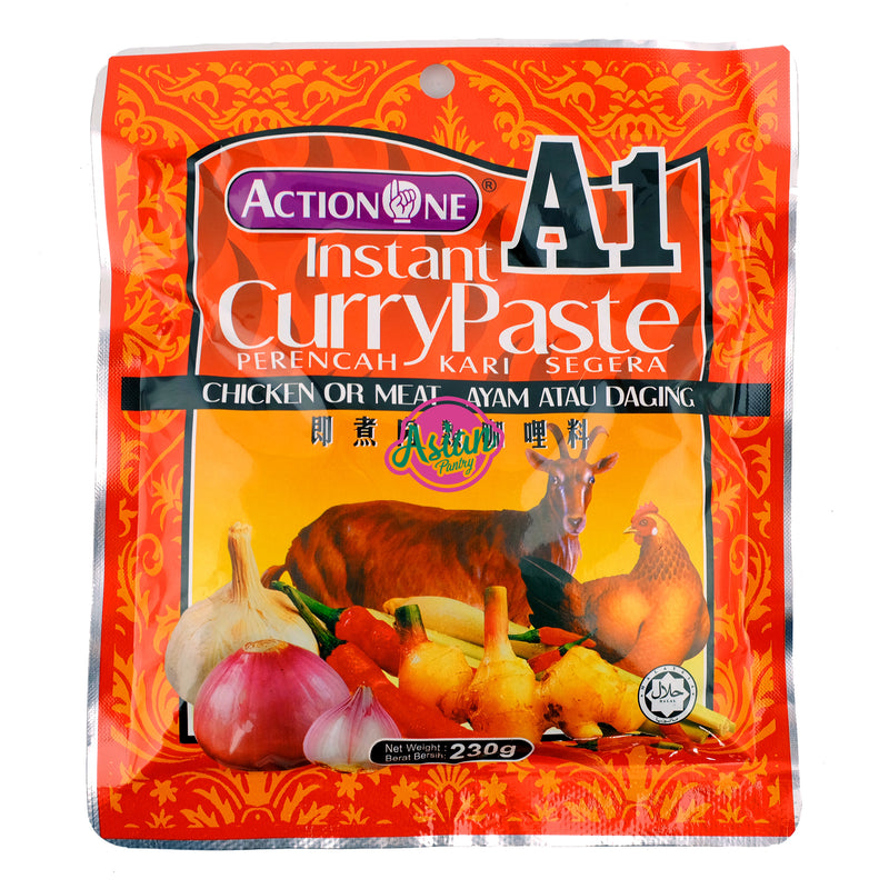 Action One Instant Curry Paste 230g Front