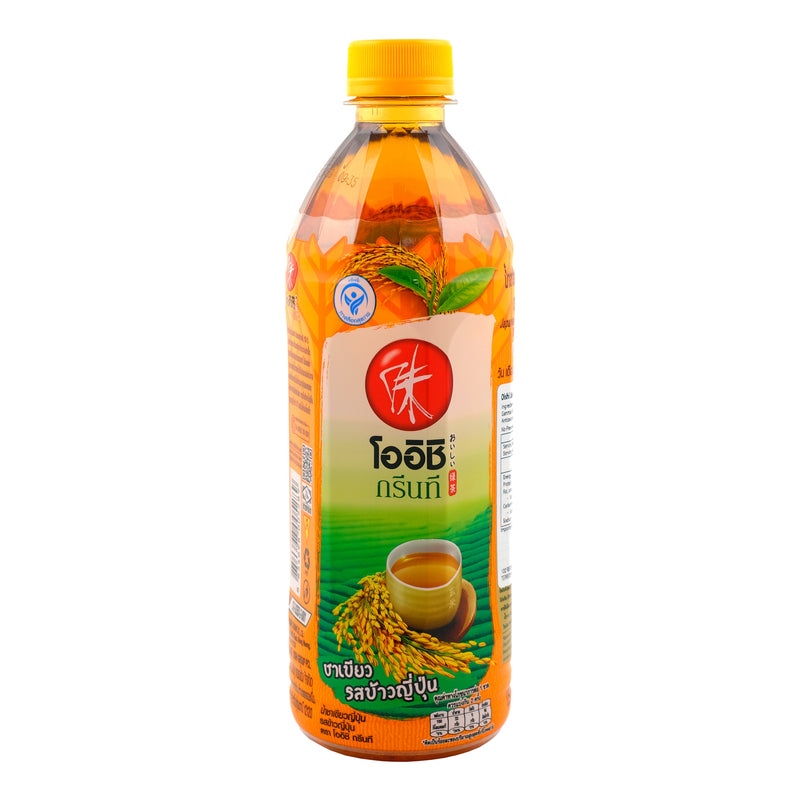 Oishi Genmai Green Tea 500ml Back