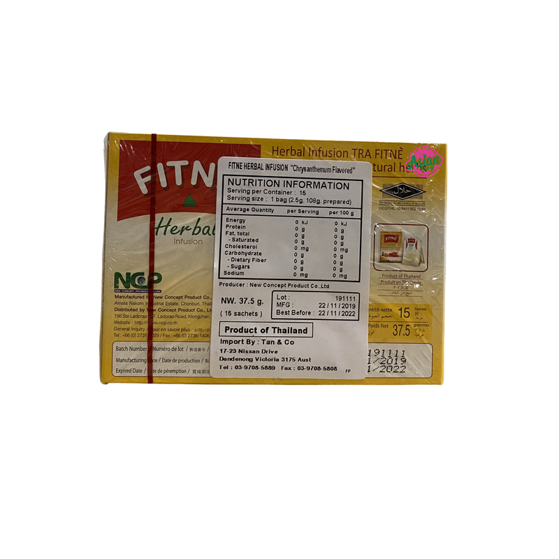 Fitne Herbal Infusion Chrysanthemum Flavoured 37g Back