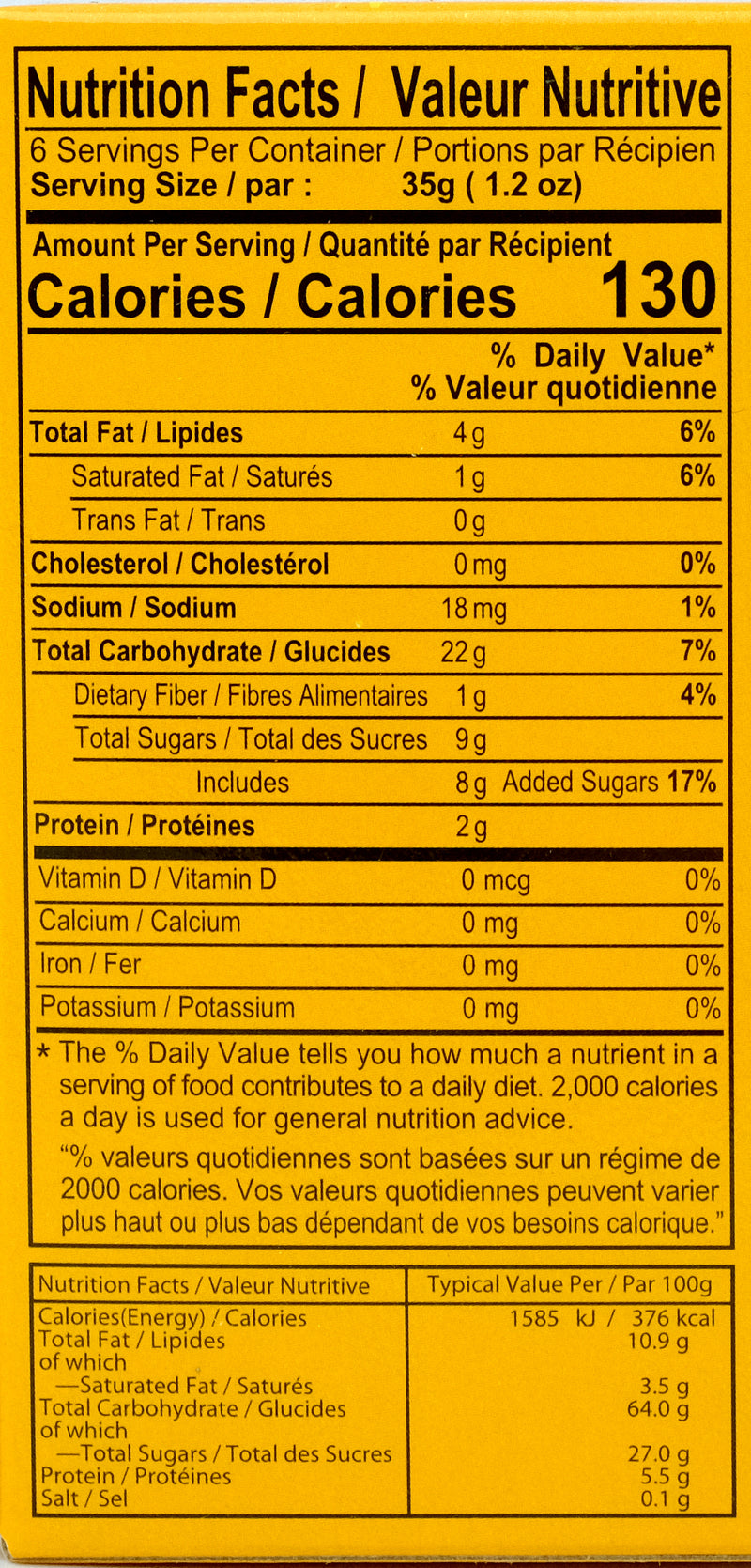 Royal Family Peanut Mochi 210g Nutritional Information & Ingredients