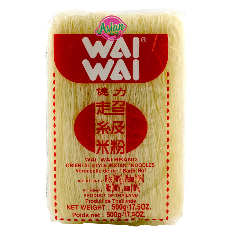 Wai Wai Rice Vermicelli 500g Front