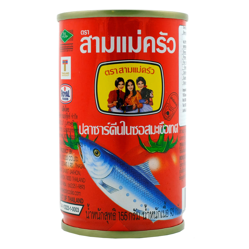 3 Lady Cooks Sardines in Tomato Sauce 155g Back