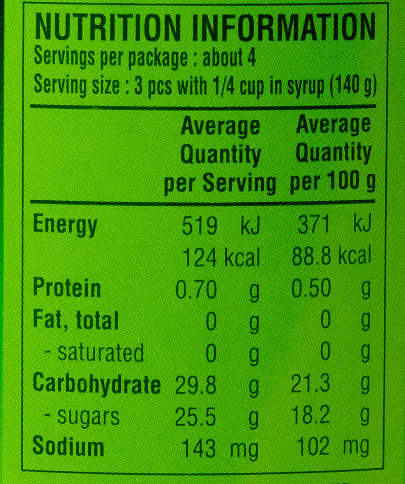 Aroy D Jackfruit in Syrup 565g Nutritional Information & Ingredients