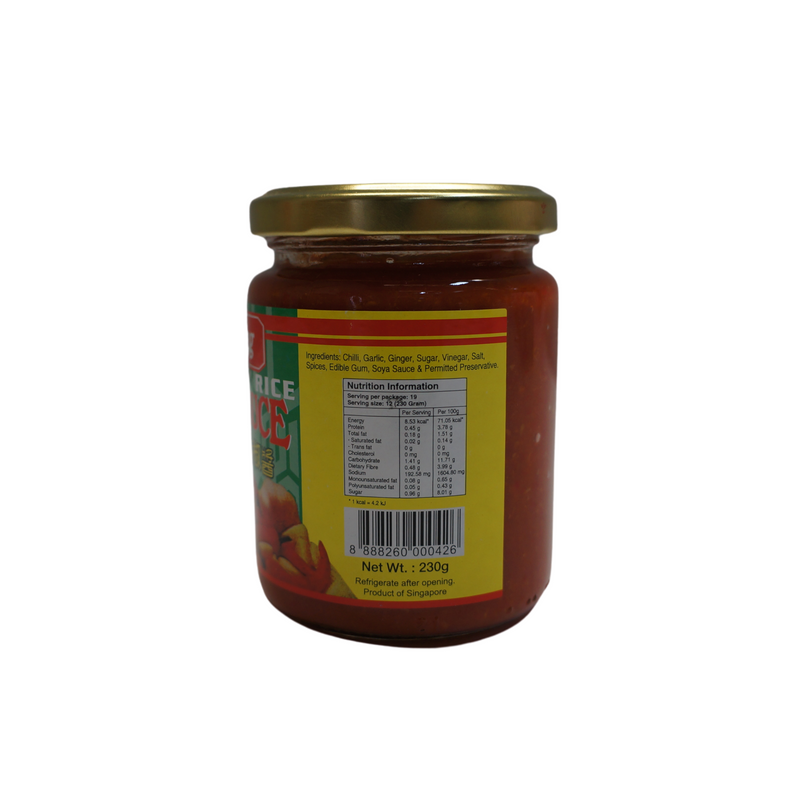 Singlong Chicken Rice Chilli Sauce 230g Back