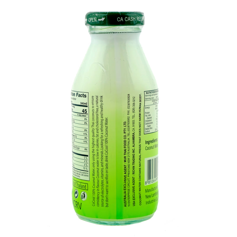 Cocool Coconut Water 280ml Back