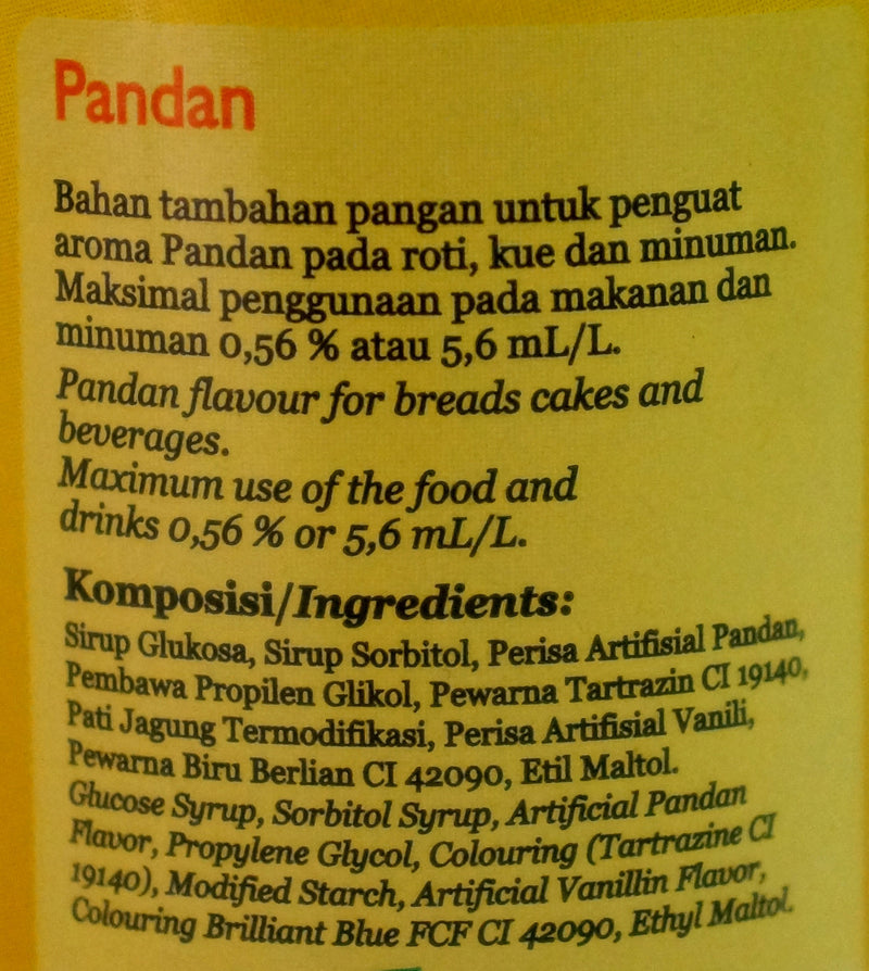 Koepoe Pandan Liquid Essence 60ml Back