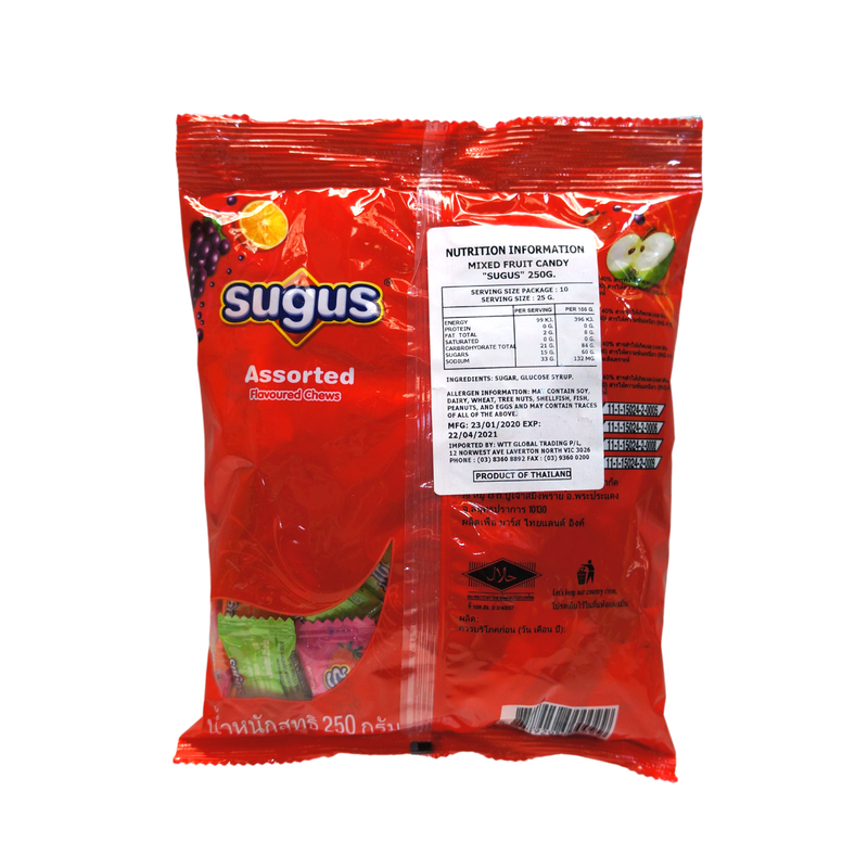 Sugus Mixed Fruit Chews 250g Back