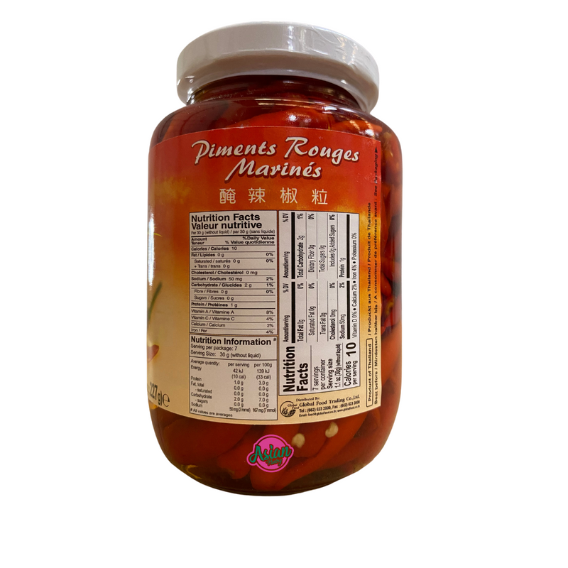 Red Dragon Pickled Red Chilli 454g Nutritional Information & Ingredients