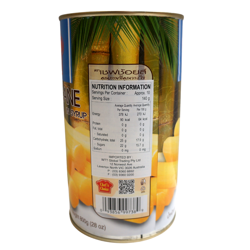 Chef's Choice Sugarcane in Syrup 1.36kg Back