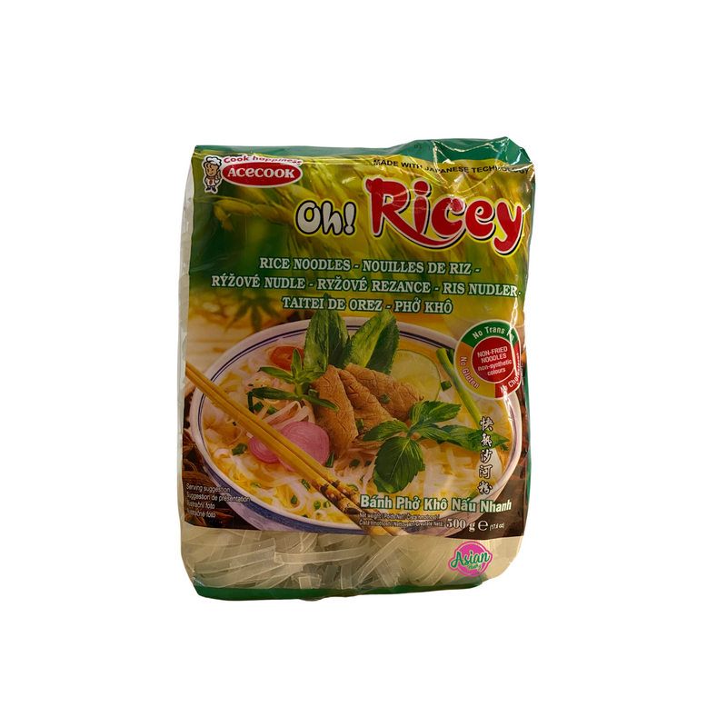 Acecook Oh Ricey Pho Rice Noodle 500g Front