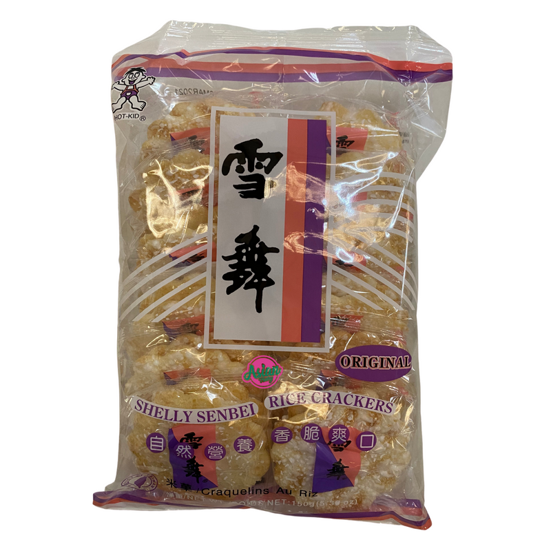 Hot Kid Rice Crackers Shelly Senbei 150g Front