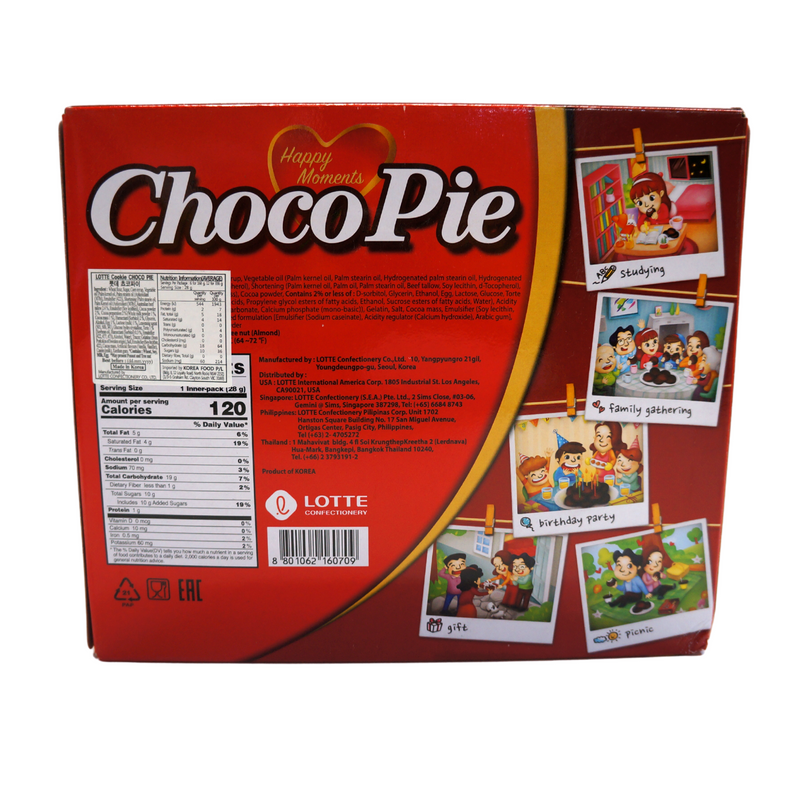 Lotte Choco Pie 12 pack 336g Back