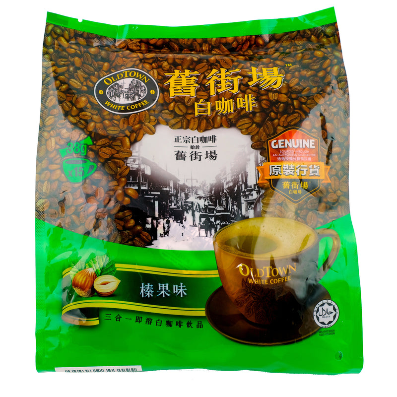 Old Town Hazelnut White Coffee Mix 570g Back