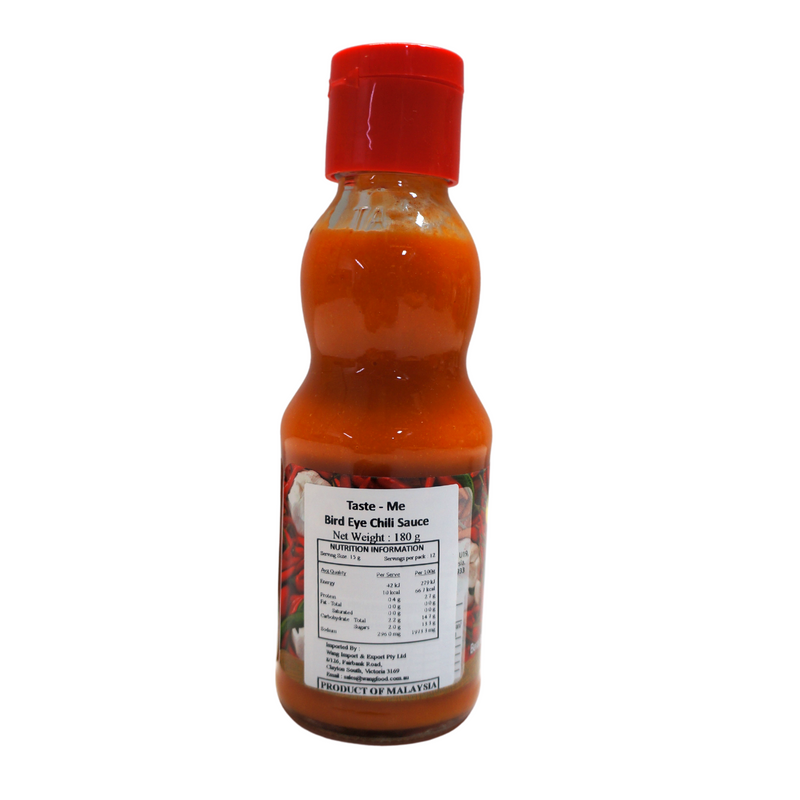 Taste-Me Bird Eye Chilli Sauce 180g Back