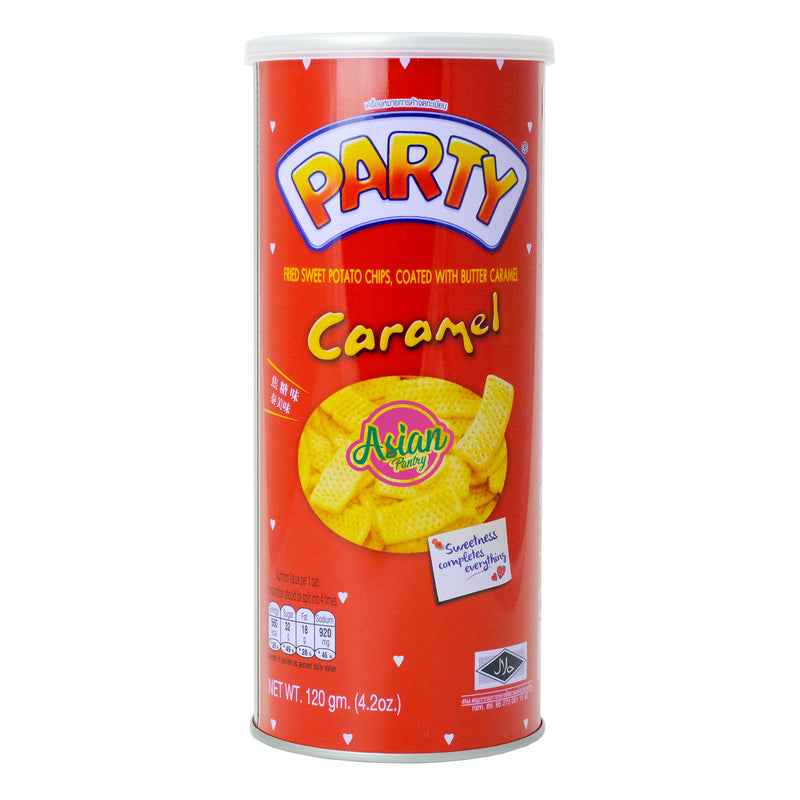 Party Caramel Yam Chips 120g Front
