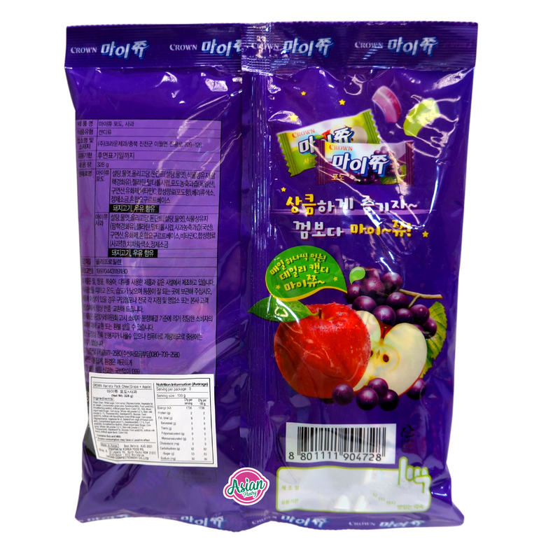 Crown Apple & Grape Chewy Candy 328g Back