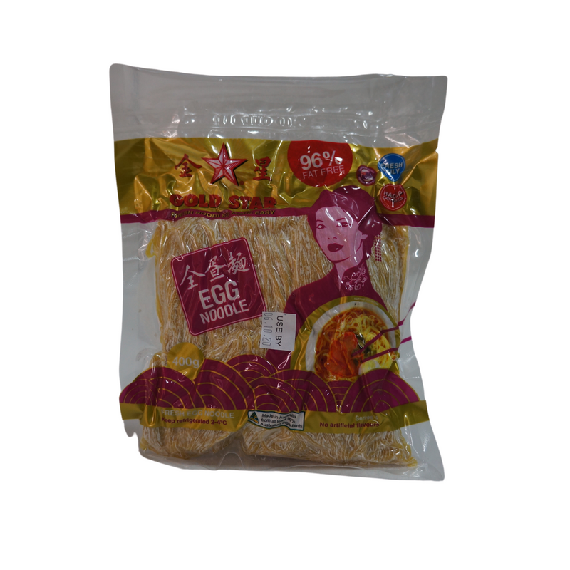[FRESH] Gold Star Egg Noodles (Thin) 400g Front