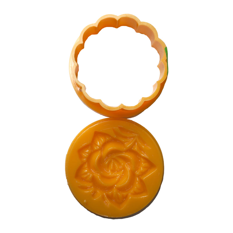 Unique Imports Moon Cake Mould Circle 150g Back