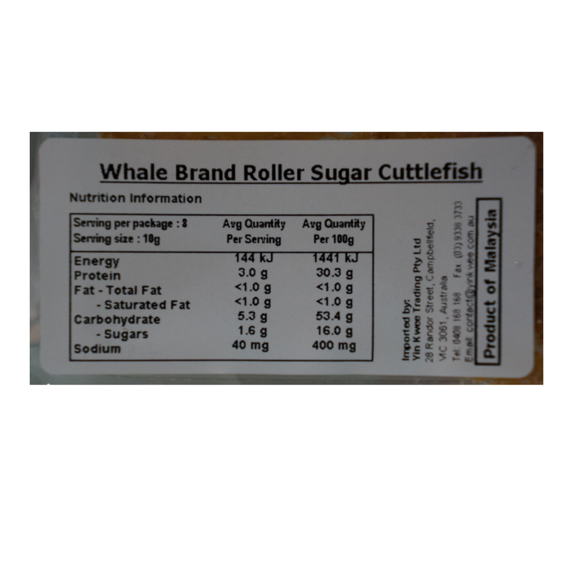 Whale Brand Sugar Rolled Cuttlefish 80g Back