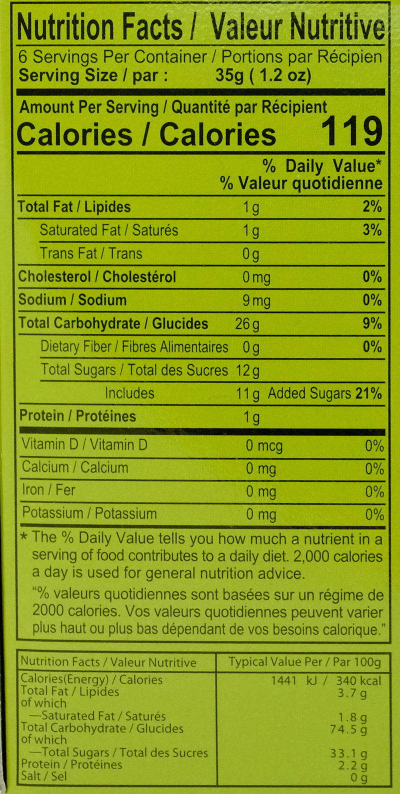 Royal Family Green Tea Mochi 210g Nutritional Information & Ingredients