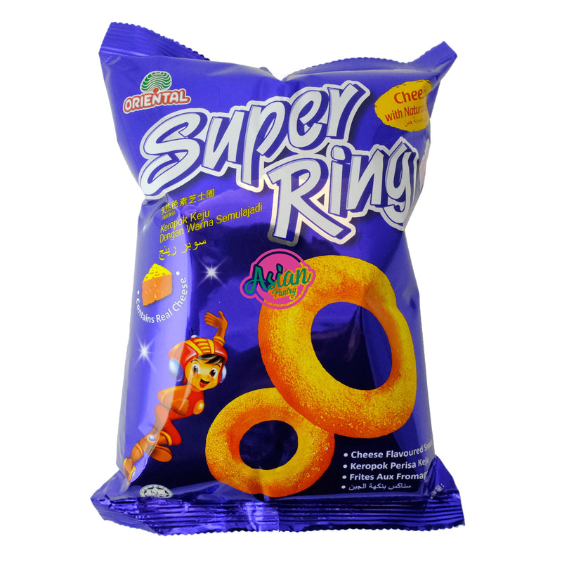 Oriental Super Ring Cheese Snack 60g Front