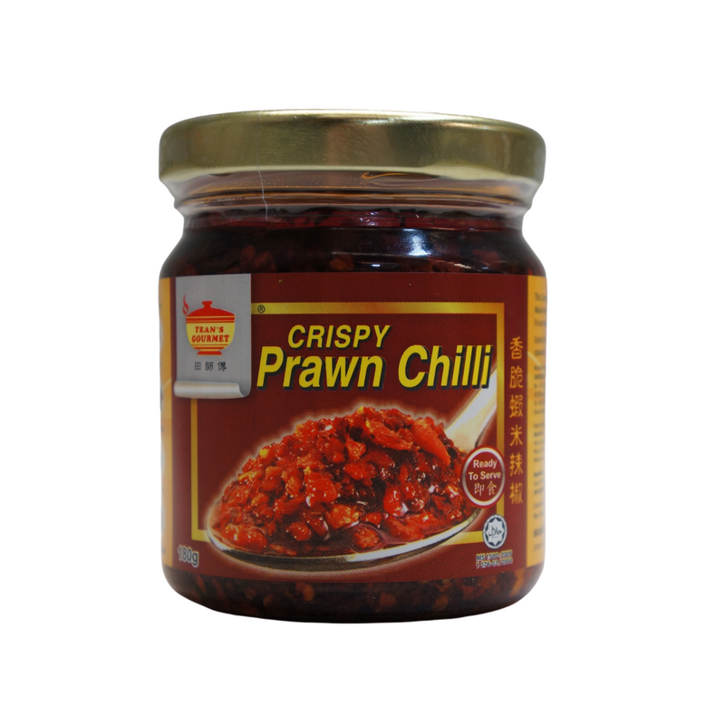 Tean's Gourmet Crispy Prawn Chilli 180g - Asian PantryTean's Gourmet Asian Groceries
