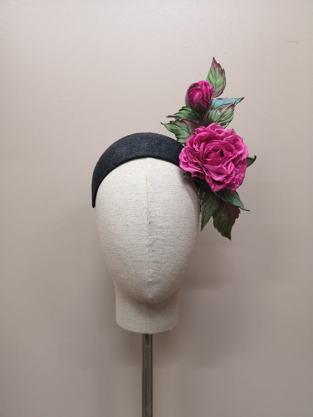 Alison Headband - Pink Rose