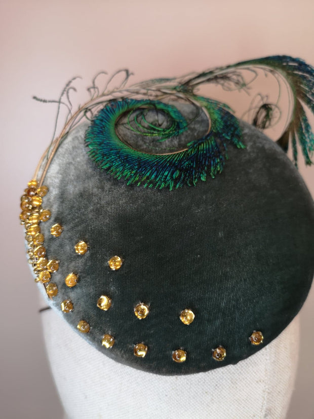 Sage&Peacock Cocktail Hat