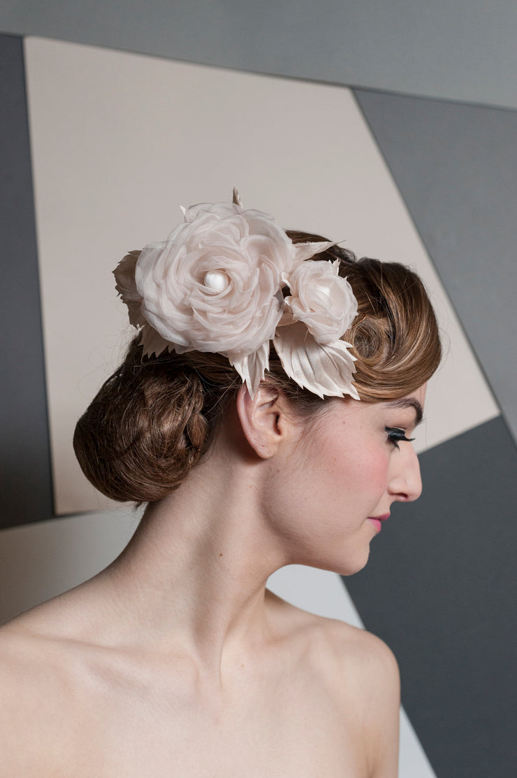 Blush Roses Headpiece