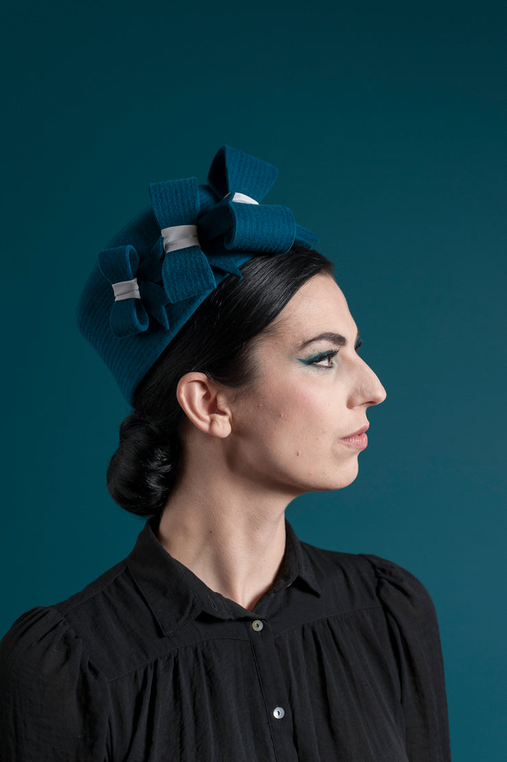 Bows Pillbox Hat