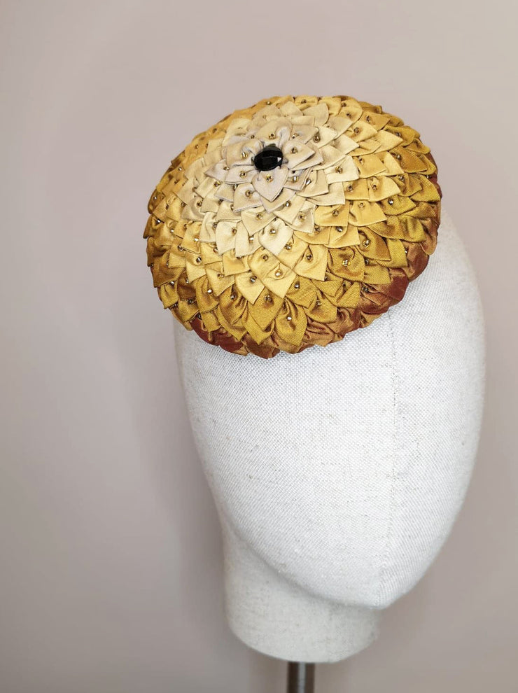 Folded Sunflower Cocktail Hat