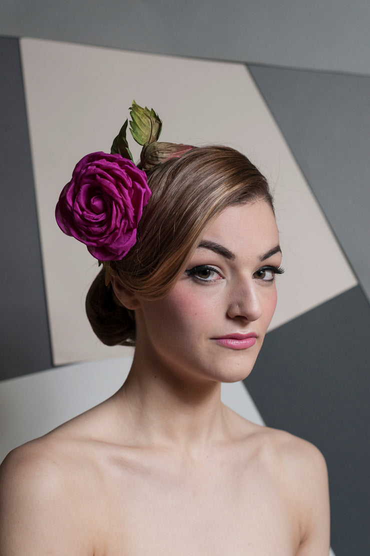 Silk Rose Headpiece