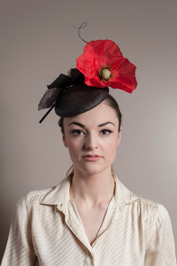 Giant Poppy Cocktail Hat
