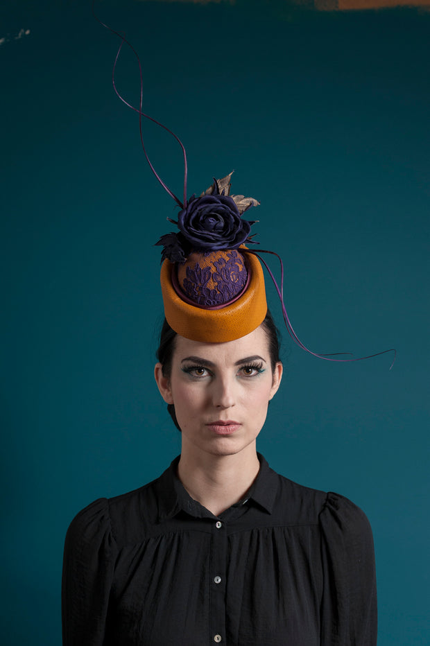 Leather Deluxe Cocktail Hat