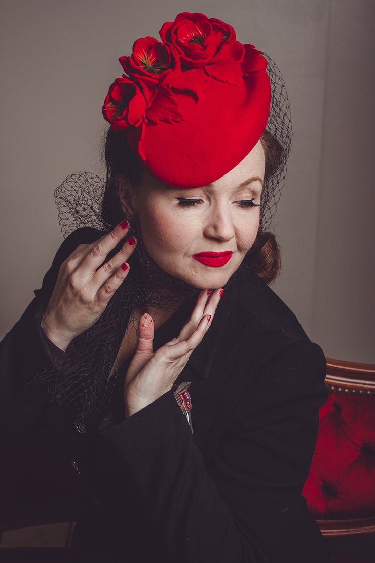 Vintage Lady Cocktail Hat