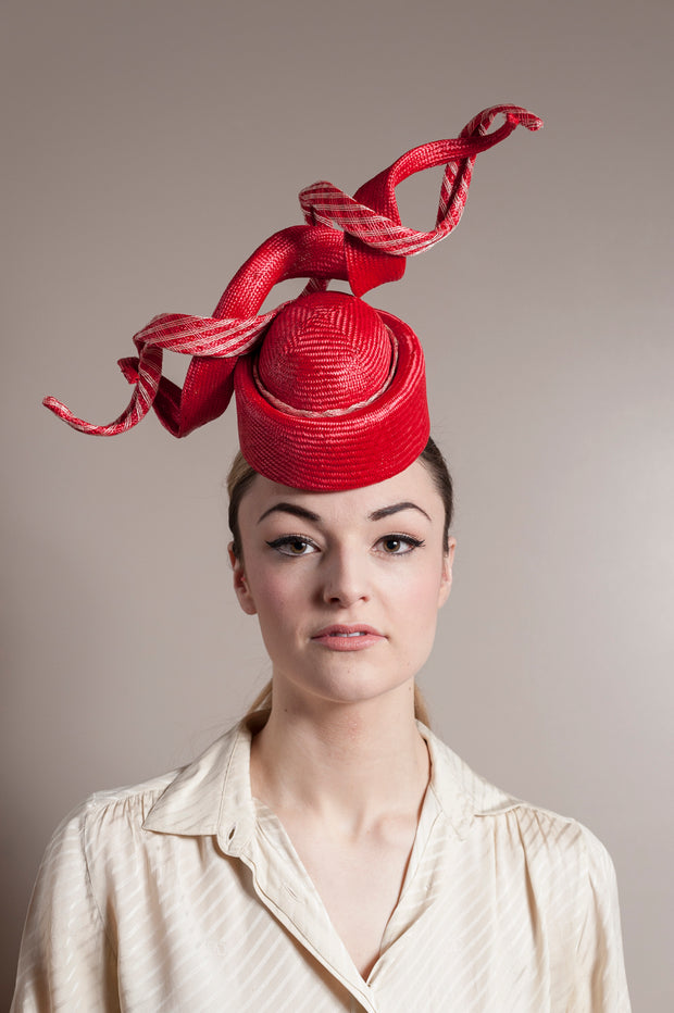 Red Twists Percher Hat